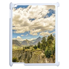 Valley And Andes Range Mountains Latacunga Ecuador Apple Ipad 2 Case (white) by dflcprints