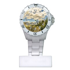 Valley And Andes Range Mountains Latacunga Ecuador Plastic Nurses Watch by dflcprints
