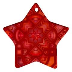 Geometric Line Art Background Ornament (star)
