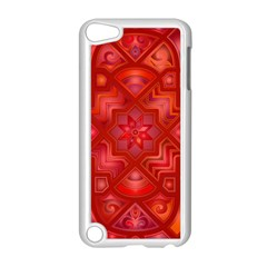 Geometric Line Art Background Apple Ipod Touch 5 Case (white)
