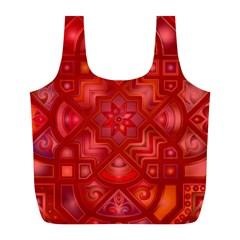 Geometric Line Art Background Full Print Recycle Bags (l)