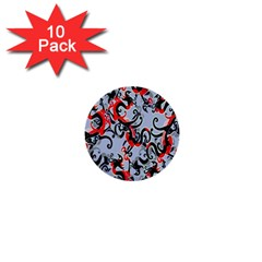 Dragon Pattern 1  Mini Buttons (10 Pack)