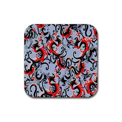 Dragon Pattern Rubber Square Coaster (4 Pack)