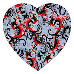 Dragon Pattern Jigsaw Puzzle (heart)