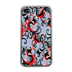 Dragon Pattern Apple Iphone 4 Case (clear) by Nexatart