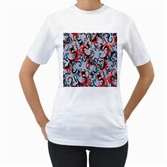 Dragon Pattern Women s T Shirt (white)