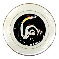 Abstraction Porcelain Plates by Valentinaart