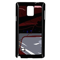 Abstraction Samsung Galaxy Note 4 Case (black) by Valentinaart