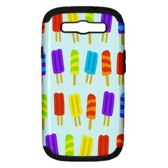 Food Pattern Samsung Galaxy S Iii Hardshell Case (pc+silicone) by Nexatart