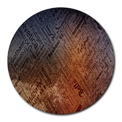 Typography Round Mousepads by Nexatart