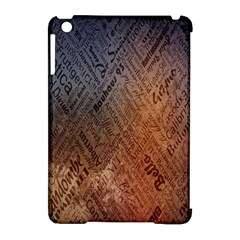 Typography Apple Ipad Mini Hardshell Case (compatible With Smart Cover) by Nexatart