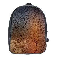 Typography School Bags (xl)  by Nexatart