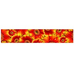 Gerbera Flowers Blossom Bloom Flano Scarf (large)