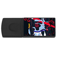 Abstraction USB Flash Drive Rectangular (2 GB)