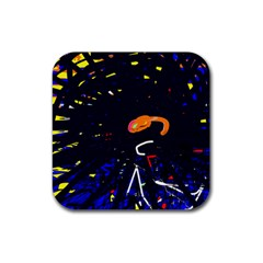 Abstraction Rubber Coaster (square)  by Valentinaart