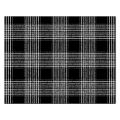 Plaid Checks Background Black Rectangular Jigsaw Puzzl by Nexatart