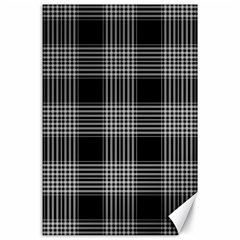 Plaid Checks Background Black Canvas 24  X 36  by Nexatart
