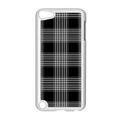 Plaid Checks Background Black Apple Ipod Touch 5 Case (white)