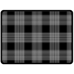 Plaid Checks Background Black Double Sided Fleece Blanket (large)  by Nexatart