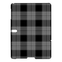 Plaid Checks Background Black Samsung Galaxy Tab S (10 5 ) Hardshell Case  by Nexatart
