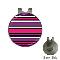 Stripes Colorful Background Hat Clips With Golf Markers by Nexatart