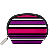 Stripes Colorful Background Accessory Pouches (small)  by Nexatart