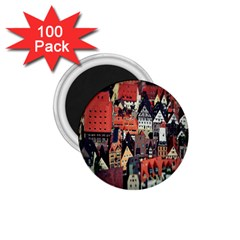 Tilt Shift Of Urban View During Daytime 1 75  Magnets (100 Pack)