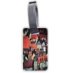 Tilt Shift Of Urban View During Daytime Luggage Tags (one Side)