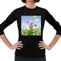 Easter Spring Flowers Happy Women s Long Sleeve Dark T Shirts