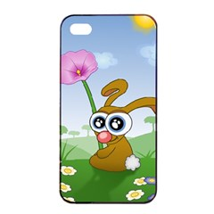 Easter Spring Flowers Happy Apple Iphone 4/4s Seamless Case (black)