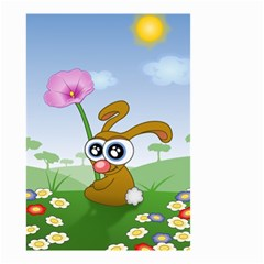 Easter Spring Flowers Happy Small Garden Flag (two Sides)