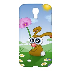 Easter Spring Flowers Happy Samsung Galaxy S4 I9500/i9505 Hardshell Case by Nexatart