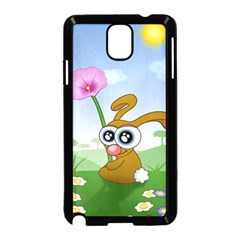 Easter Spring Flowers Happy Samsung Galaxy Note 3 Neo Hardshell Case (black)