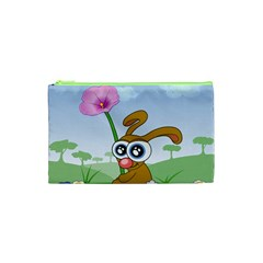 Easter Spring Flowers Happy Cosmetic Bag (xs) by Nexatart