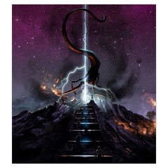 Eldritch Monster Bag By Thomas Covert   Drawstring Pouch (large)   Rn8leom8g4ne   Www Artscow Com Back