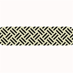 Woven2 Black Marble & Beige Linen (r) Large Bar Mat by trendistuff