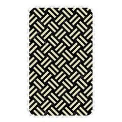 Woven2 Black Marble & Beige Linen Memory Card Reader (rectangular) by trendistuff
