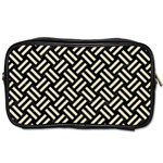 WOVEN2 BLACK MARBLE & BEIGE LINEN Toiletries Bag (Two Sides) Front
