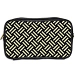 WOVEN2 BLACK MARBLE & BEIGE LINEN Toiletries Bag (Two Sides) Back
