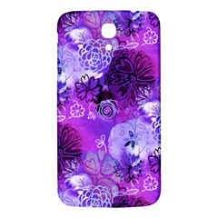 Urban Purple Flowers Samsung Galaxy Mega I9200 Hardshell Back Case by KirstenStar
