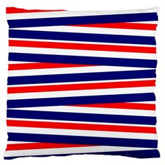 Red White Blue Patriotic Ribbons Large Cushion Case (two Sides)