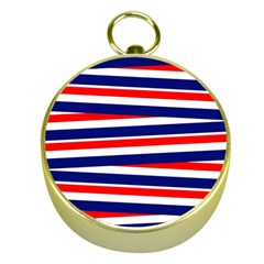 Red White Blue Patriotic Ribbons Gold Compasses