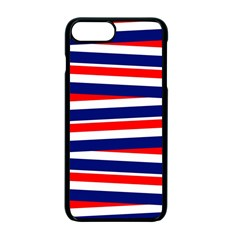 Red White Blue Patriotic Ribbons Apple Iphone 7 Plus Seamless Case (black) by Nexatart