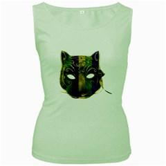Catwoman Mardi Gras Mask Women s Green Tank Top by dflcprints