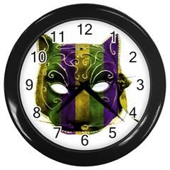 Catwoman Mardi Gras Mask Wall Clocks (black) by dflcprints