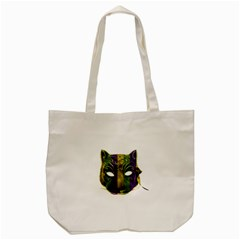 Catwoman Mardi Gras Mask Tote Bag (cream) by dflcprints
