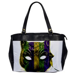 Catwoman Mardi Gras Mask Office Handbags by dflcprints