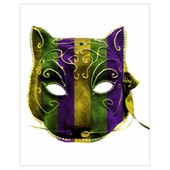 Catwoman Mardi Gras Mask Drawstring Bag (small) by dflcprints