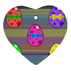 Holidays Occasions Easter Eggs Ornament (heart) by Nexatart