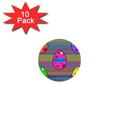 Holidays Occasions Easter Eggs 1  Mini Buttons (10 Pack)